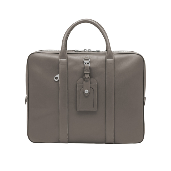 Mulberry Matthew Single Document Case Grey Micrograin Calf