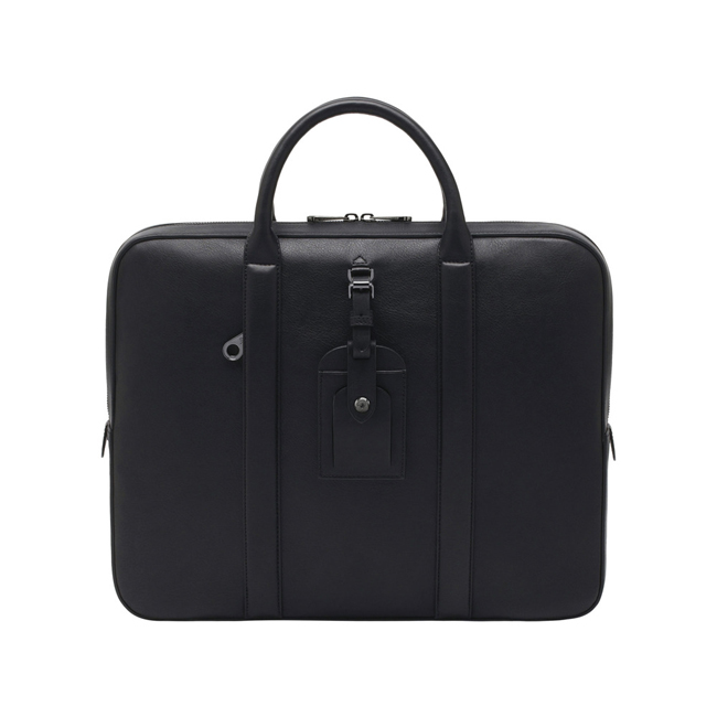 Mulberry Matthew Single Document Case Black Micrograin Calf