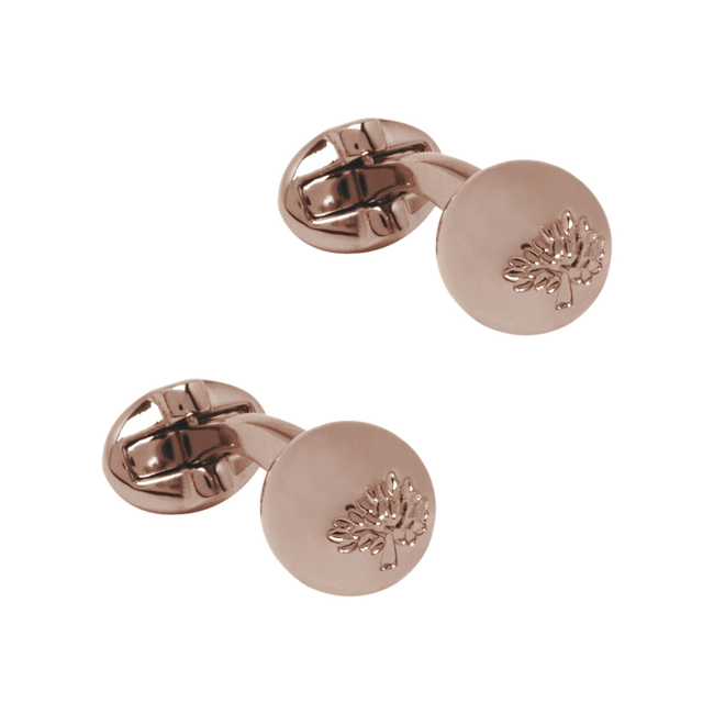 Mulberry Sphere Cufflinks Rose Gold Metal