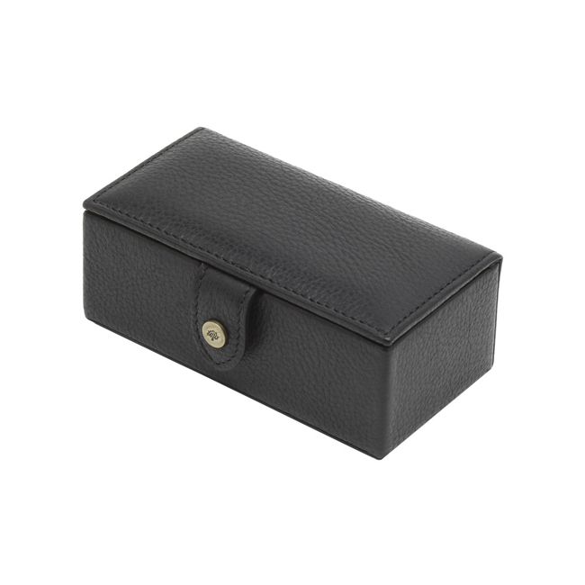 Mulberry Cufflinks Box Black Natural Leather