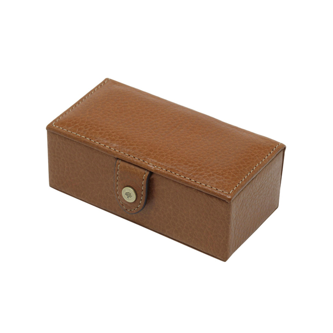 Mulberry Cufflinks Box Oak Natural Leather