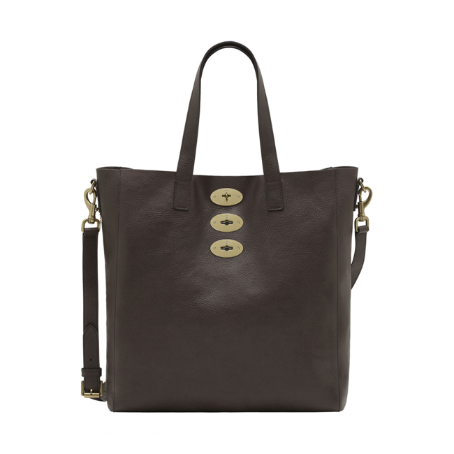 Mulberry Brynmore Tote Chocolate Natural Leather