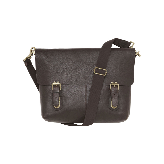 Mulberry Barnaby Chocolate Natural Leather