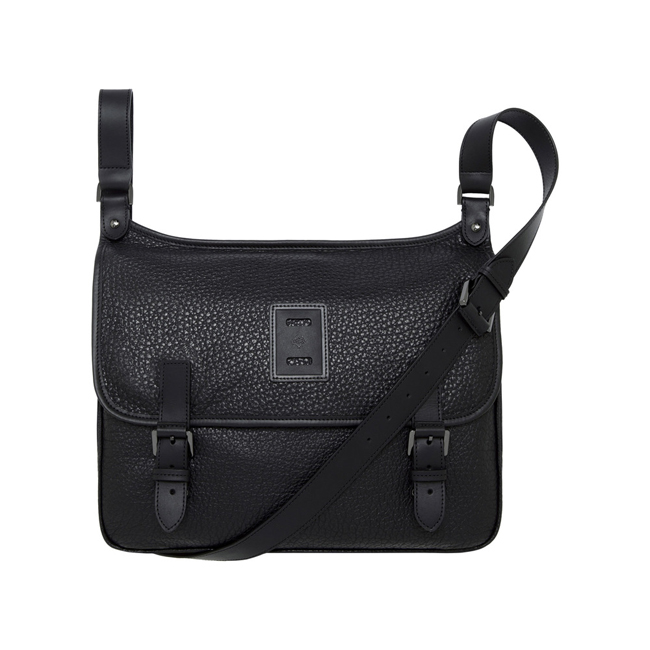 Mulberry Freddie Satchel Black Soft Large Grain