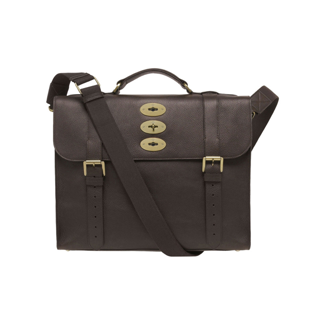Mulberry Ted Chocolate Natural Leather