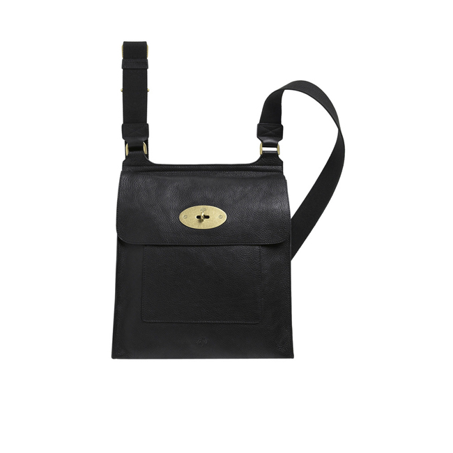dece46e18833 Cheap Mulberry Antony Messenger Black Natural Leather online store
