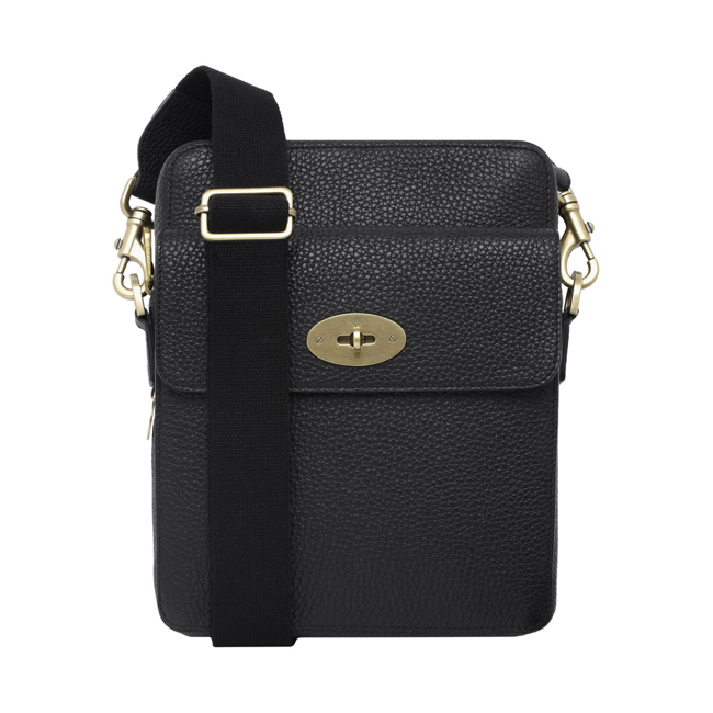 Mulberry Postmans Lock Reporter Black Soft Grain Leather