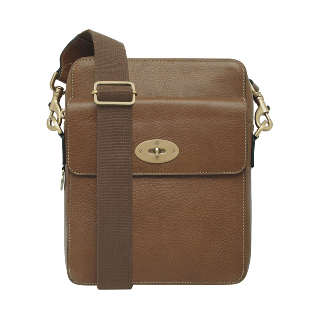Mulberry Postmans Lock Reporter Oak Natural Leather