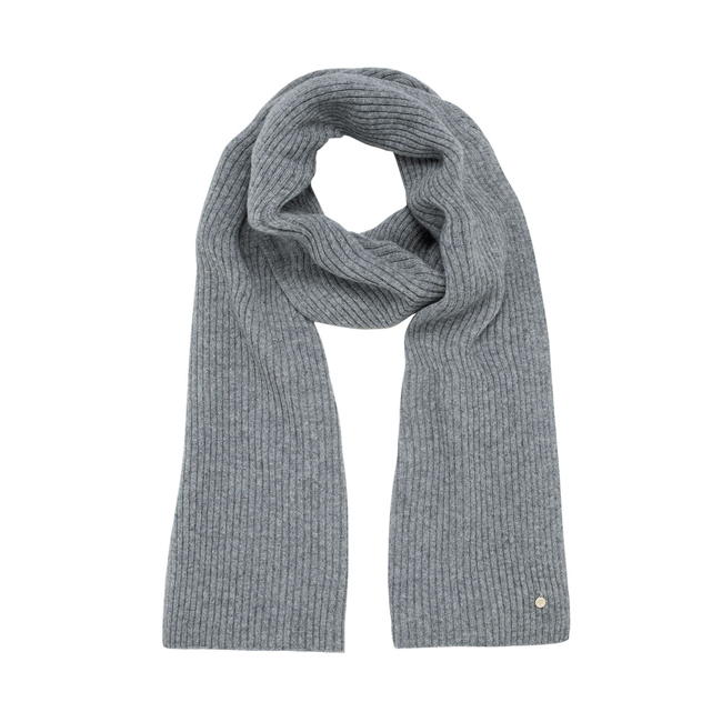 Mulberry Rib Scarf Uniform Grey Camel Hair