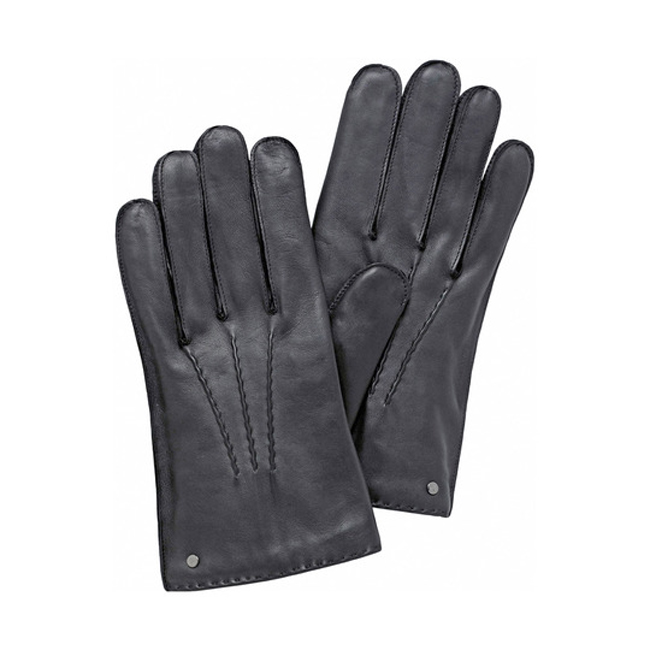 Mulberry Men Formal Glove Gunmetal Leather