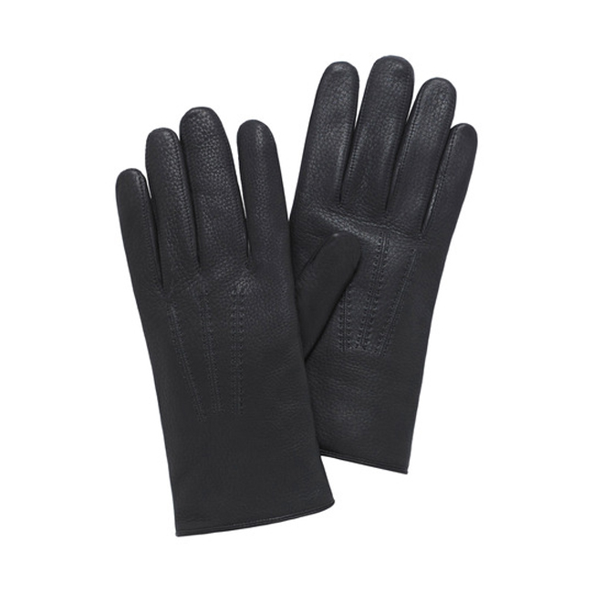 Mulberry Men Day Glove Black Deerskin