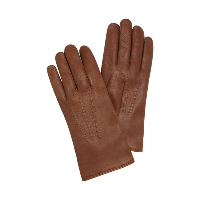 Mulberry Men Day Glove Oak Deerskin