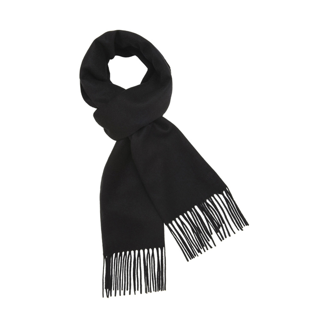 Mulberry Block Colour Scarf Black Cashmere