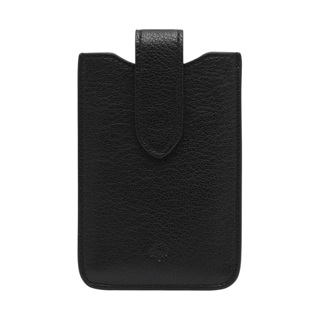 Mulberry Phone Cover with Tab Black Glossy Goat