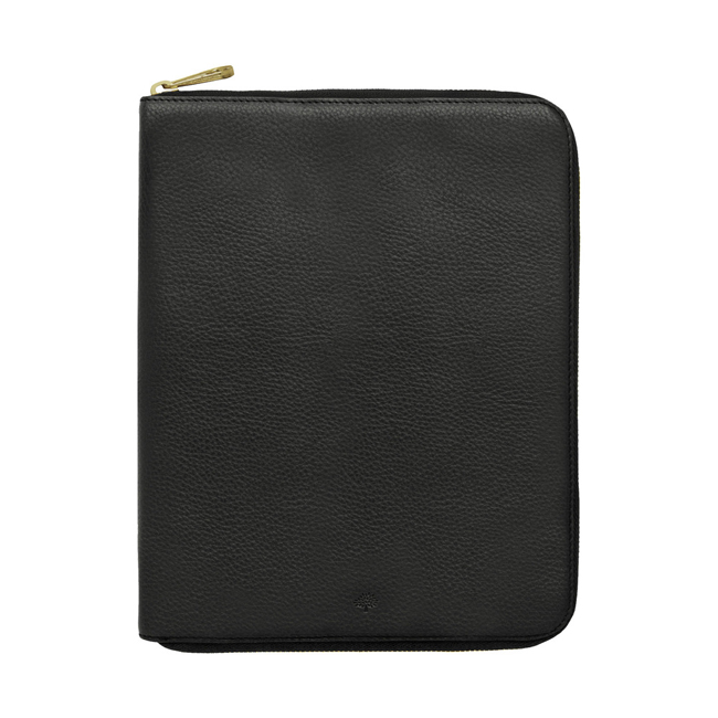Mulberry iPad Folio Black Natural Leather