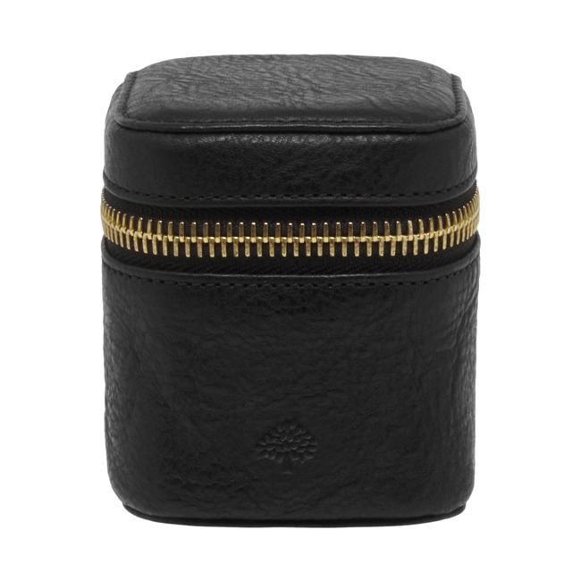 Mulberry Travel Adapter Black Natural Leather