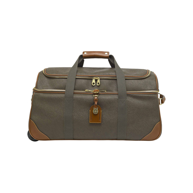 Mulberry Albany Duffle Mole Scotchgrain With Cognac Trim