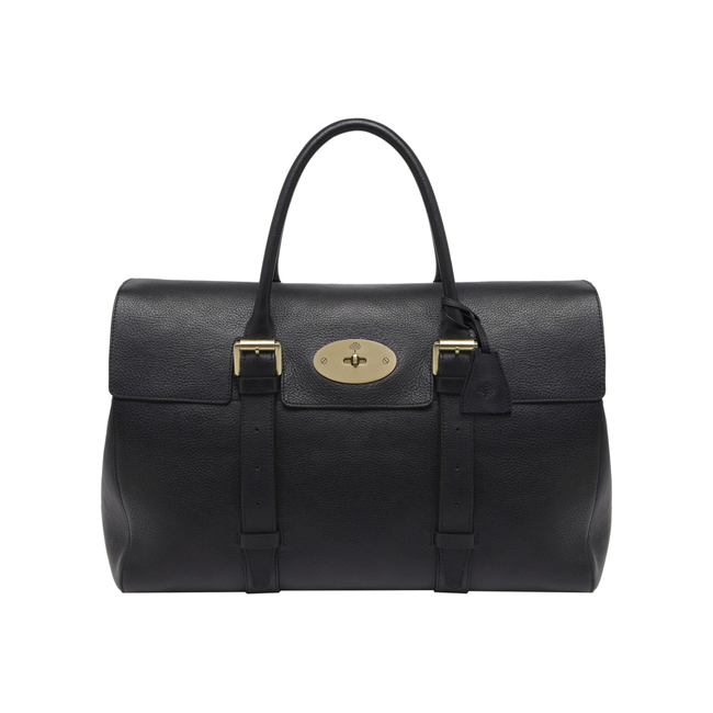 Mulberry Oversized Bayswater Black Natural Leather