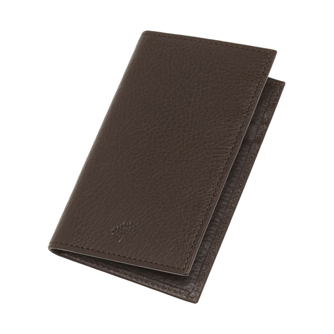 Mulberry Foldable Card Case Chocolate Natural Leather