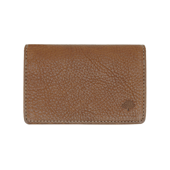 Mulberry Card Case Oak Natural Leather