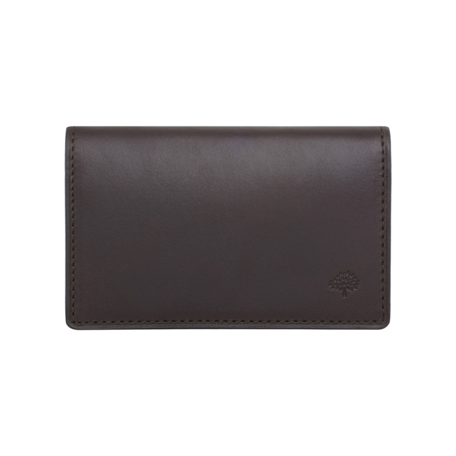 Mulberry Card Case Chocolate Soft Saddle