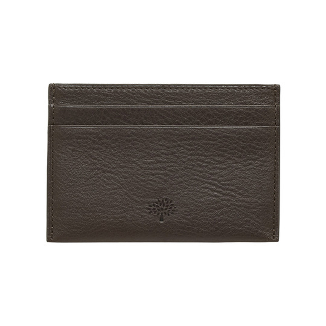 Mulberry Credit Card Slip Chocolate Natural Leather