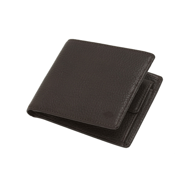 Mulberry Coin Wallet Chocolate Natural Leather