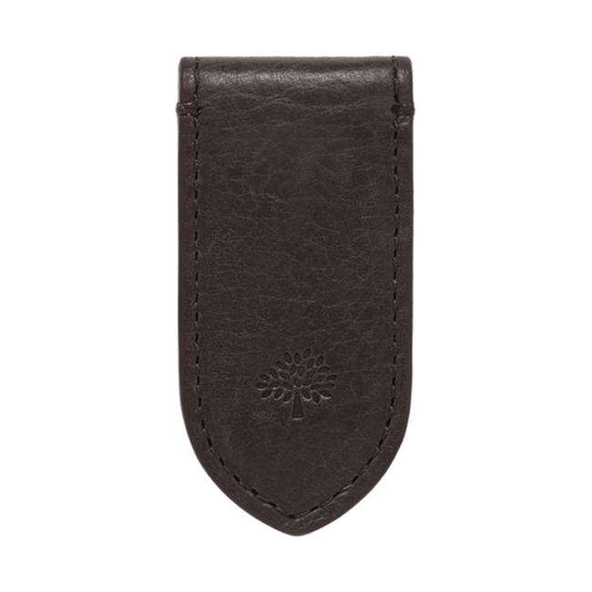 Mulberry Leather Money Clip Chocolate Natural Leather