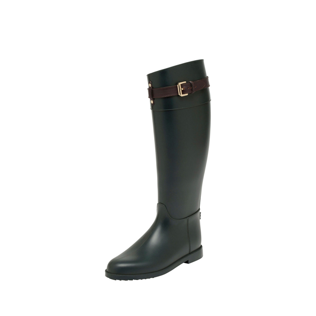 Mulberry Rain Boot Pheasant Green Rubber