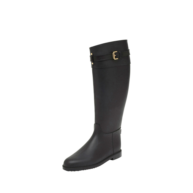 Mulberry Rain Boot Black Rubber