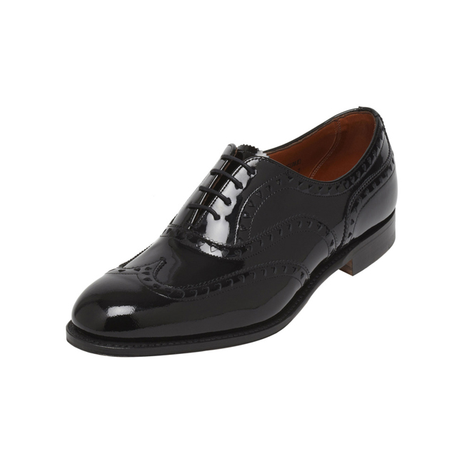 Mulberry Lace Up Brogue Black Patent
