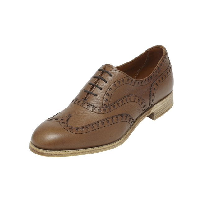 Mulberry Lace Up Brogue Oak Heritage Leather