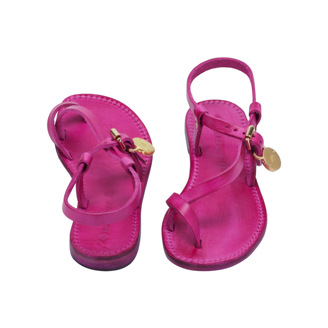 Mulberry Bayswater Flat Sandal Pink Dip Dyed Leather