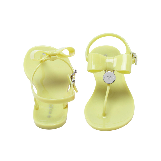 Mulberry Jelly Bow T-Bar Sandal Pistachio Jelly