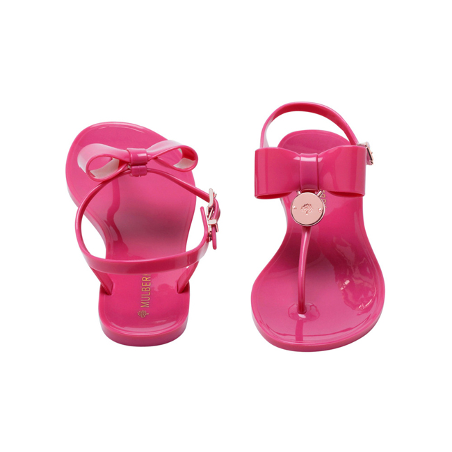 Mulberry Jelly Bow T-Bar Sandal Raspberry Jelly
