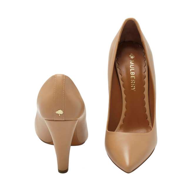 Mulberry Signature Pump Biscuit Brown Florence Nappa