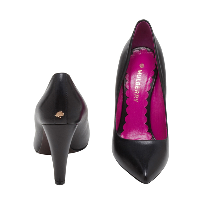 Mulberry Signature Pump Black Nappa Leather