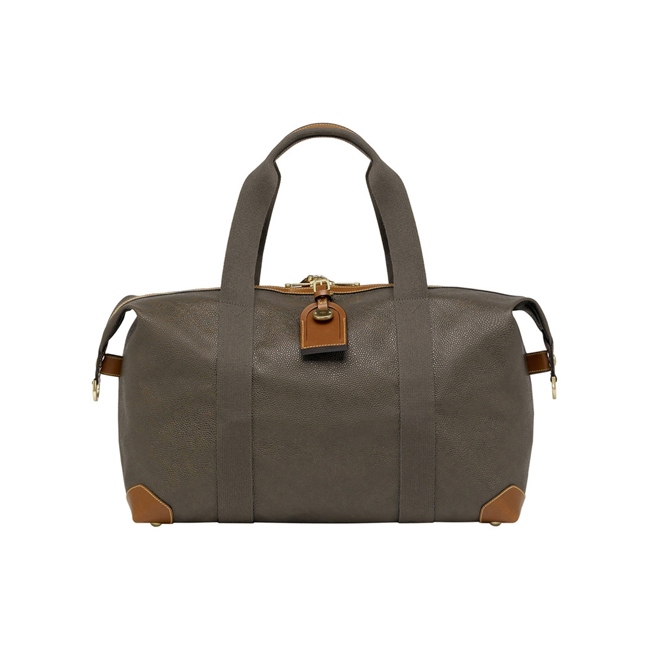 Mulberry Small Clipper Mole Scotchgrain With Cognac Trim