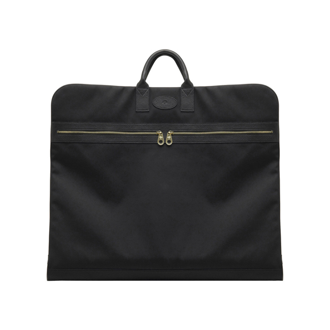 Mulberry Henry Suit Carrier Black Textured Nylon