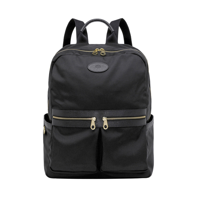 Mulberry Henry Backpack Black Textured Nylon