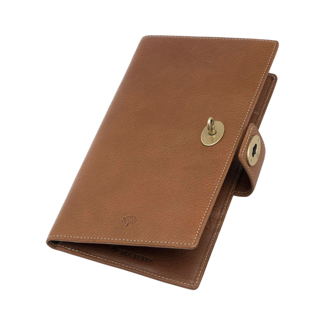 Mulberry Women Travel Wallet Oak Natural Leather