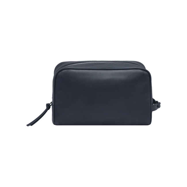 Mulberry Wash Case with Braided Handle Midnight Blue Soft Nappa Leather