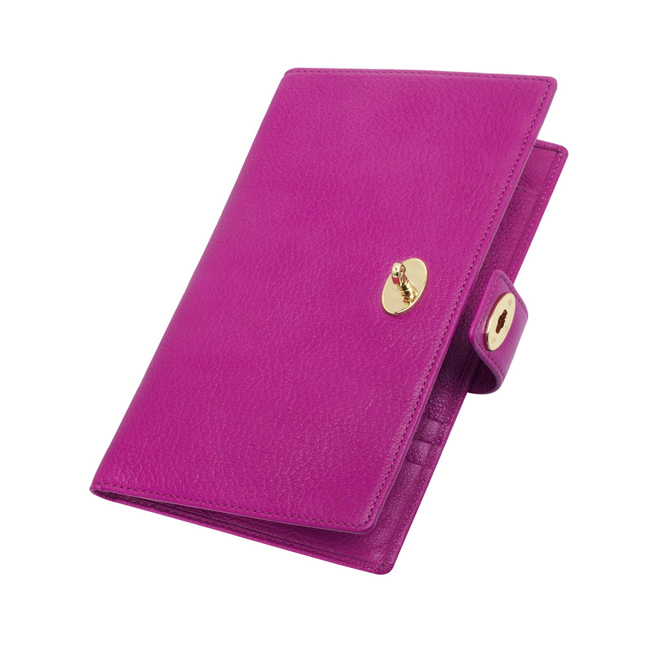 Mulberry Women Travel Wallet Pink Glossy Goat