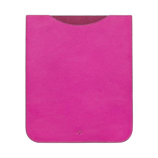 Mulberry Simple iPad Sleeve Pink Glossy Goat