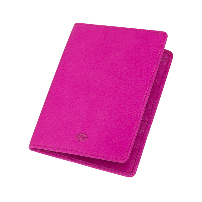 Mulberry Passport Cover Wallet Pink Glossy Goat
