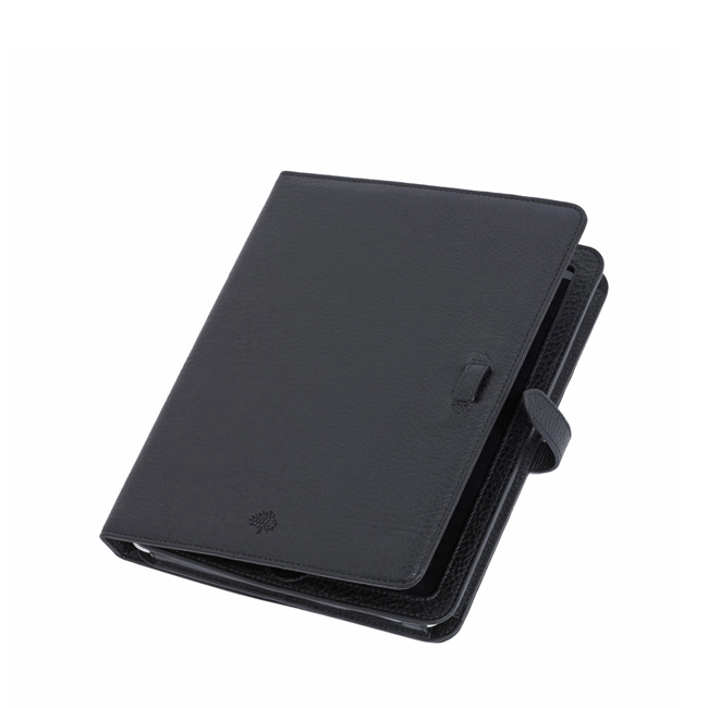 Mulberry Adjustable iPad Sleeve Black Natural Leather