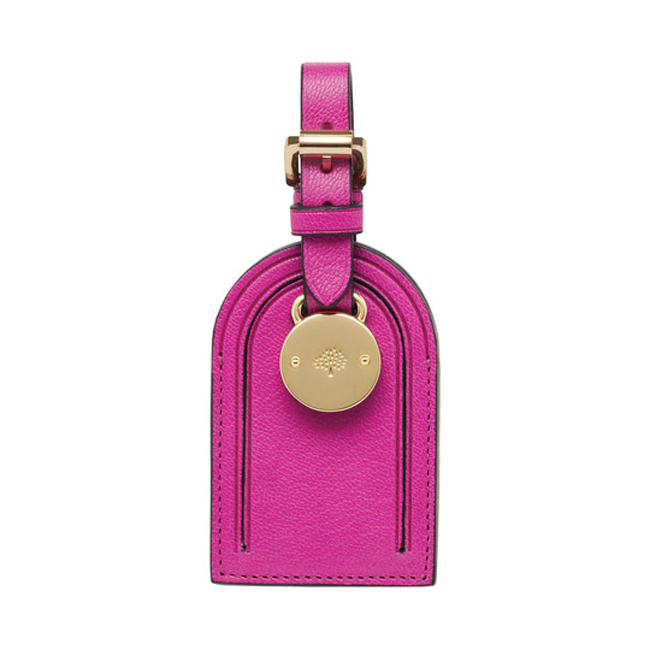 Mulberry Luggage Tag Pink Glossy Goat