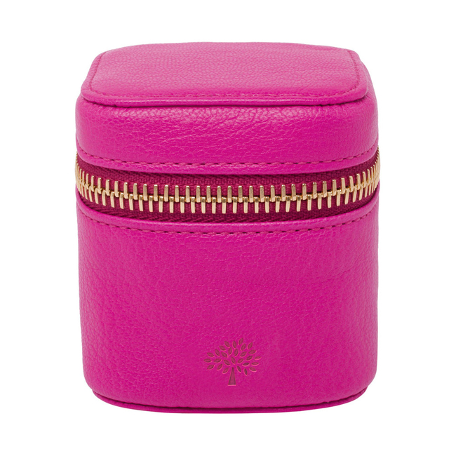 Mulberry Travel Adapter Pink Glossy Goat