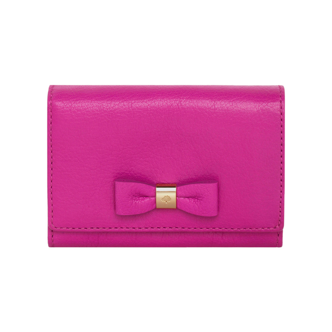 Mulberry Bow French Purse Pink Glossy Goat