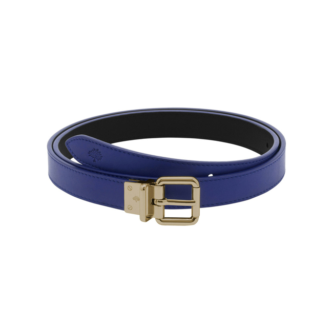 Mulberry Reversible Belt Cosmic Blue & Black Silky Classic Calf